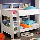 parisot kids tam tam bunk bed with reversible colour shelves