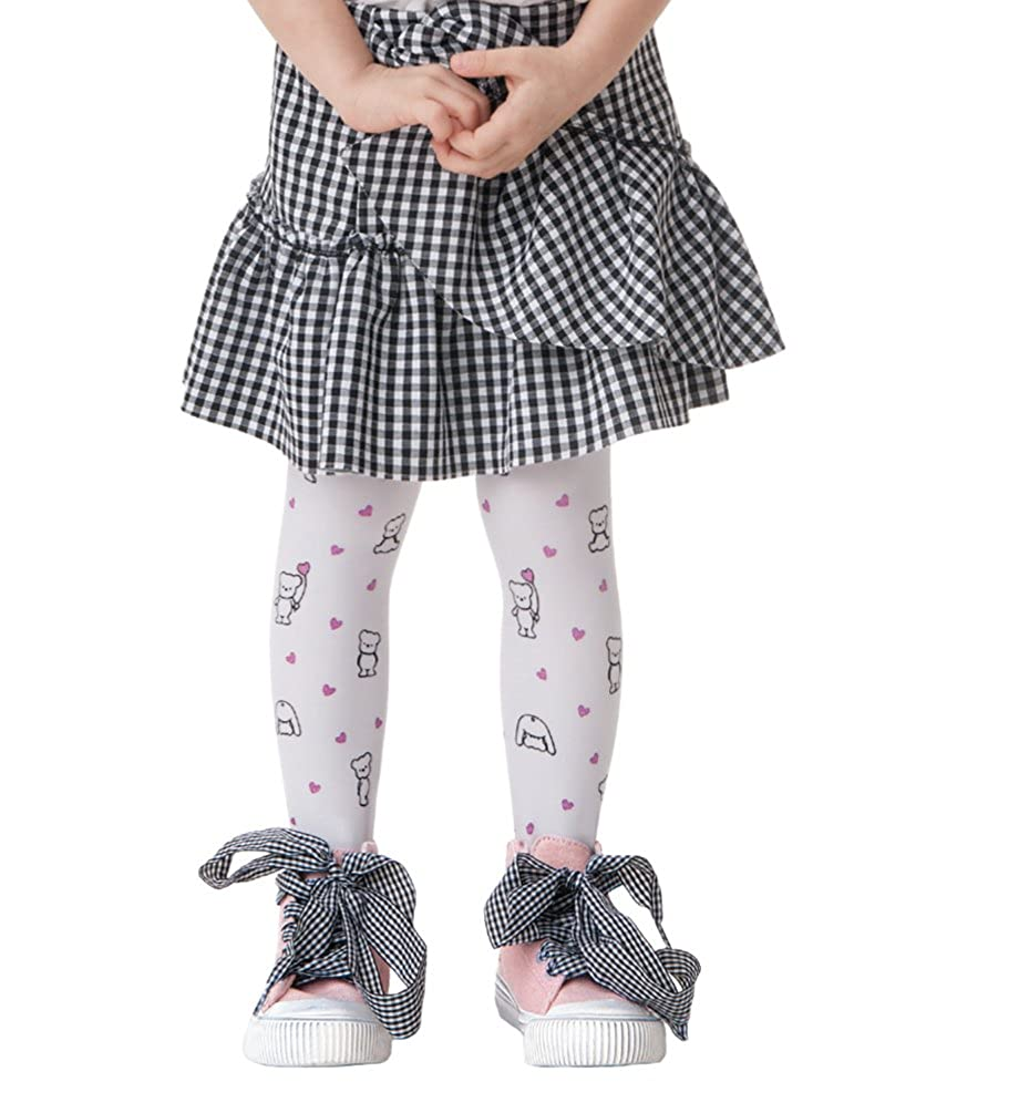 Semi-opaque girls pantyhose Teddy with pattern Knittex