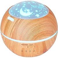TOMNEW 150ML Difusor de Aromas Aceite Esencial Ultrasónico Difusor Fragancia Mini Aroma Humidificador Grano de Madera Apagado Automático Sin Agua y 7 Luces LED de Color que Cambian para la Oficina del Hogar Bebé