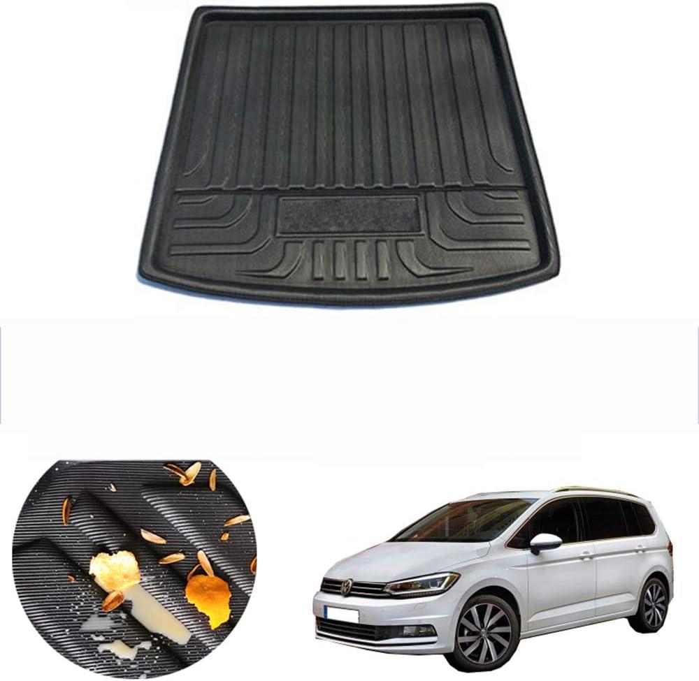pour Tapis de Coffre de Coffre arri/ère de Voiture Cargo Tray Boot Liner pour Volkswagen VW Touran MK3 2016 2017 2018 2019 Auto Carpet Protector Floor