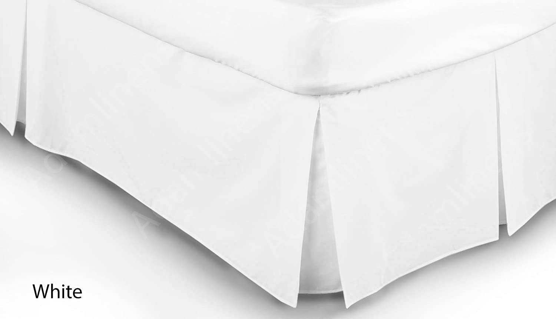 Adamlinens Luxury 68 Pick White Double Base Valance sheet Adams