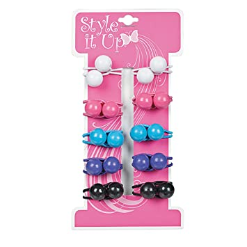 Amazon.com   Style It Up Small Hair Bobbles   Ponytail Holders With Ball  Ends   Beauty ed3c4152d69