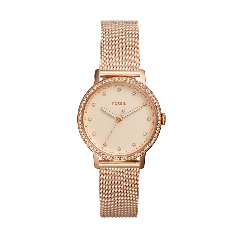 Amazon.com: Fossil Womens Neely Quartz Watch with Stainless-Steel Strap, Rose Gold, 16 (Model: ES4365: Watches