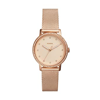 Fossil Womens Neely Quartz Watch with Stainless-Steel Strap, Rose Gold, 16 (