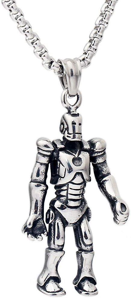 Transformadores Mundiales Masculinos Robot Collar De Acero De Titanio Para Hombres Europeos Y Americanos Colgante Explosión De Joyas De Dinero: Amazon.es: Hogar