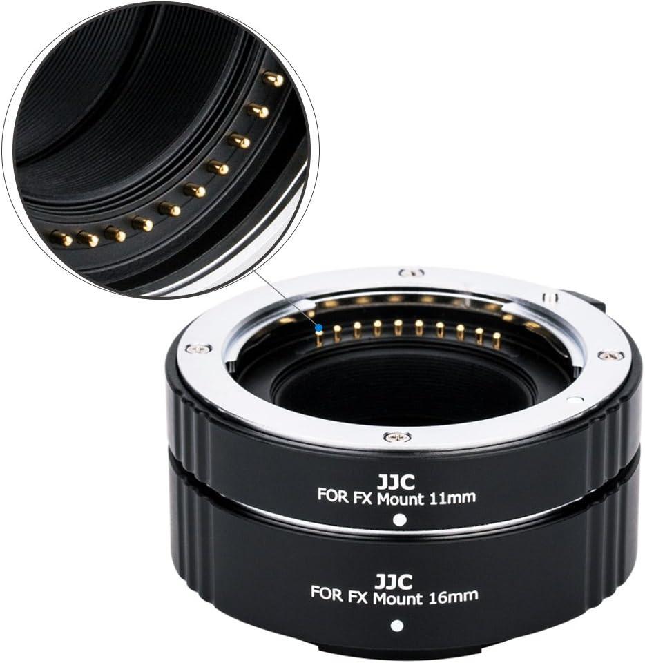 JJC X Mount Auto Focus Macro Extension Tube Set for Fuji Fujifilm X-T3 X-T4 X-T2 X-T1 X-T30 X-T20 X-T10 X-T200 X-T100 X-H1 X-PRO3 X-PRO2 X-A10 X-A7 X-A5 X-E3 X-E2S,Replaces Fujifilm MCEX-11 /& MCEX-16