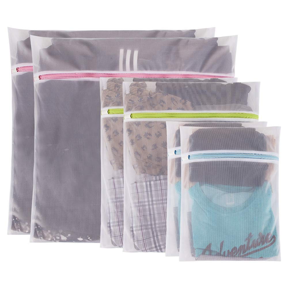 UOON Bra Laundry Bags Pack of 4 Essentials Mesh wash Bags for Intimates Lingerie and Delicates with Premium Zipper