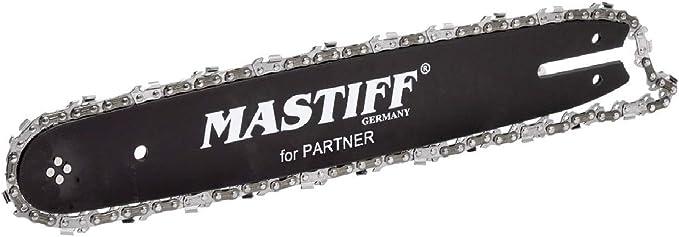 "Schwert 2 Ketten passend für Partner P4-20XT 30 cm 3//8/"" 45 TG 1,3 mm Sägekette"