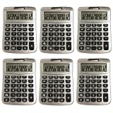 Bulk Digital Calculators Solar Powered Desktop Big Screen Basic Calculator With Electronic Number 12 Digit Display Black (6-Pack) - Colors May Vary