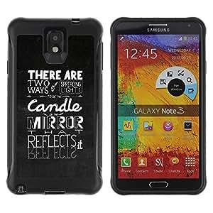 Suave TPU GEL Carcasa Funda Silicona Blando Estuche Caso de protección (para) Samsung Note 3 / CECELL Phone case / / Spreading The Light /