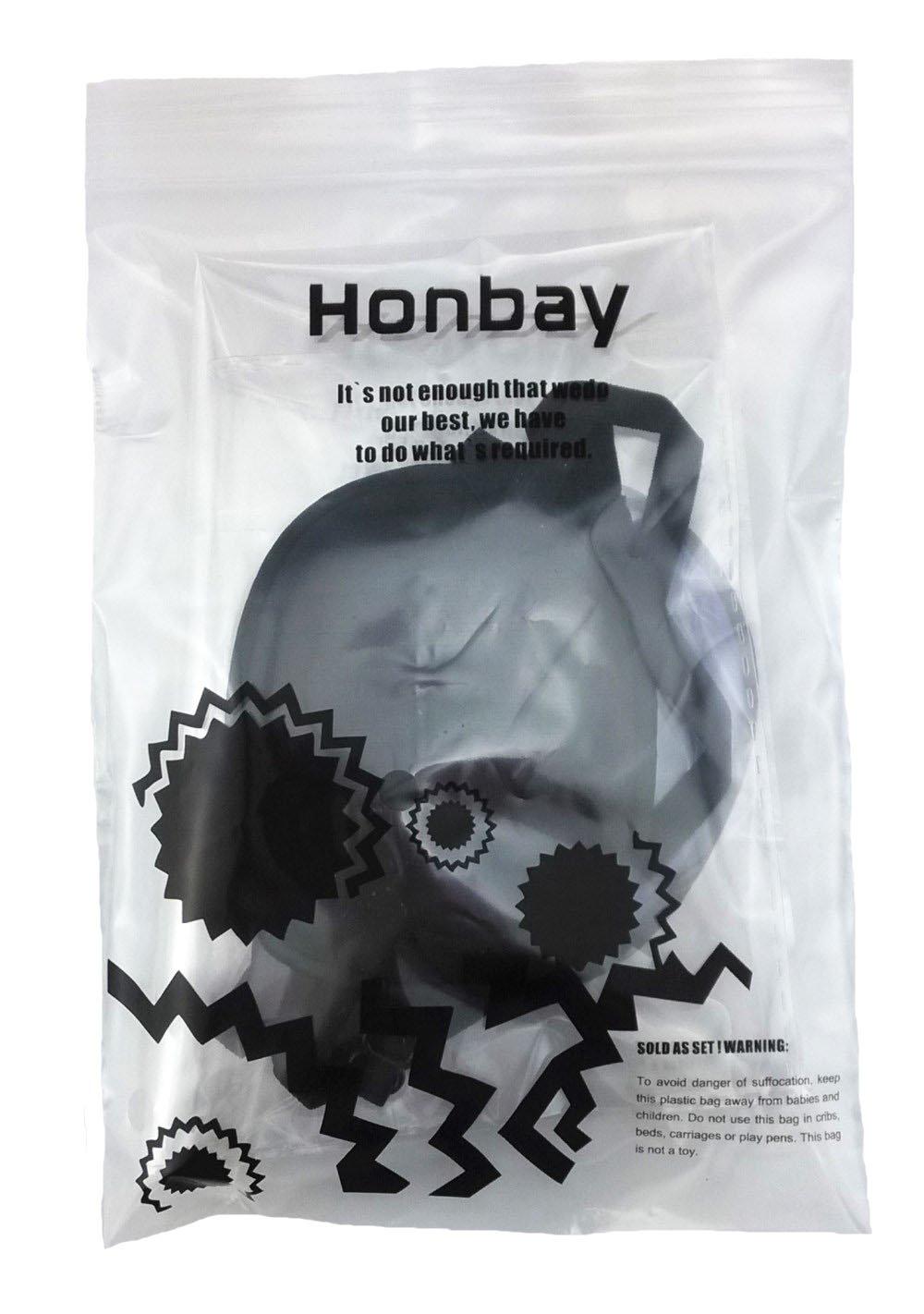 Honbay 2pcs Black and Navy Blue Elastic Silk Eye Patch for Adults Lazy Eye Amblyopia Strabismus