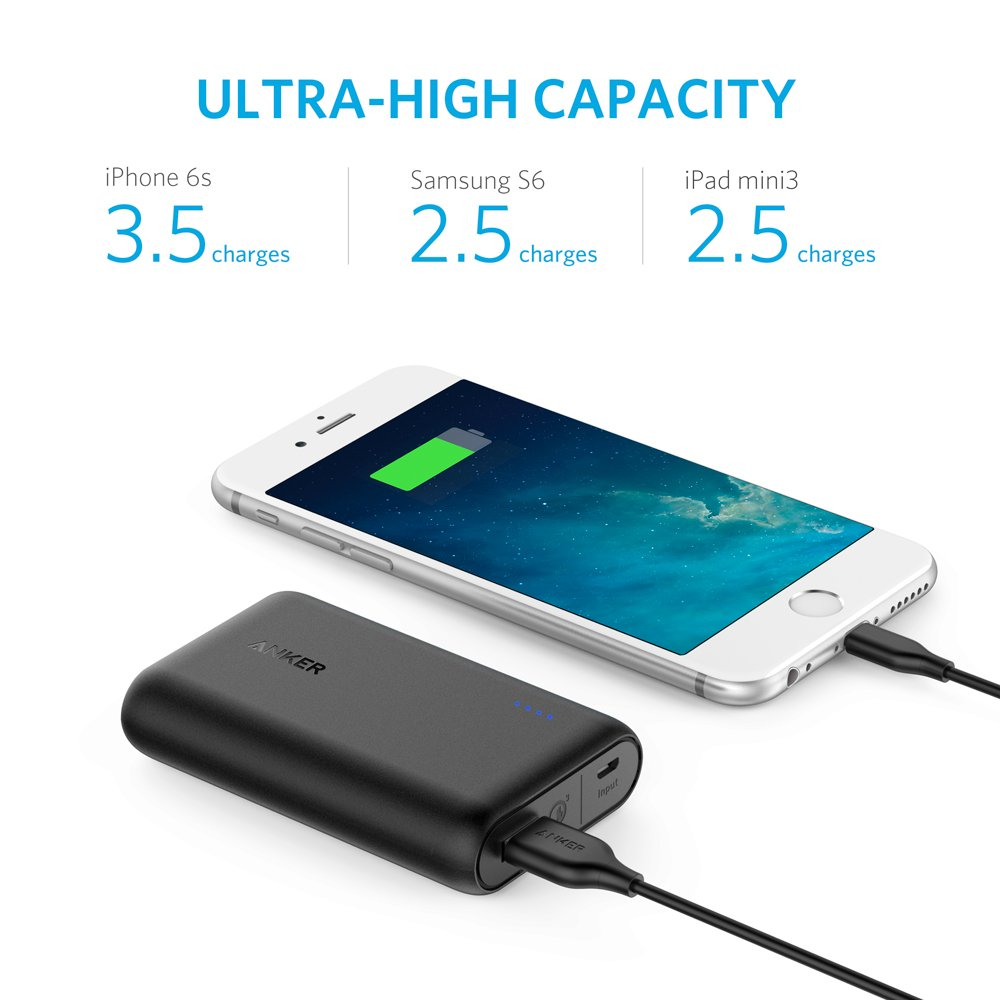 「Anker PowerCore Speed 10000 QC」大容量バッテリー
