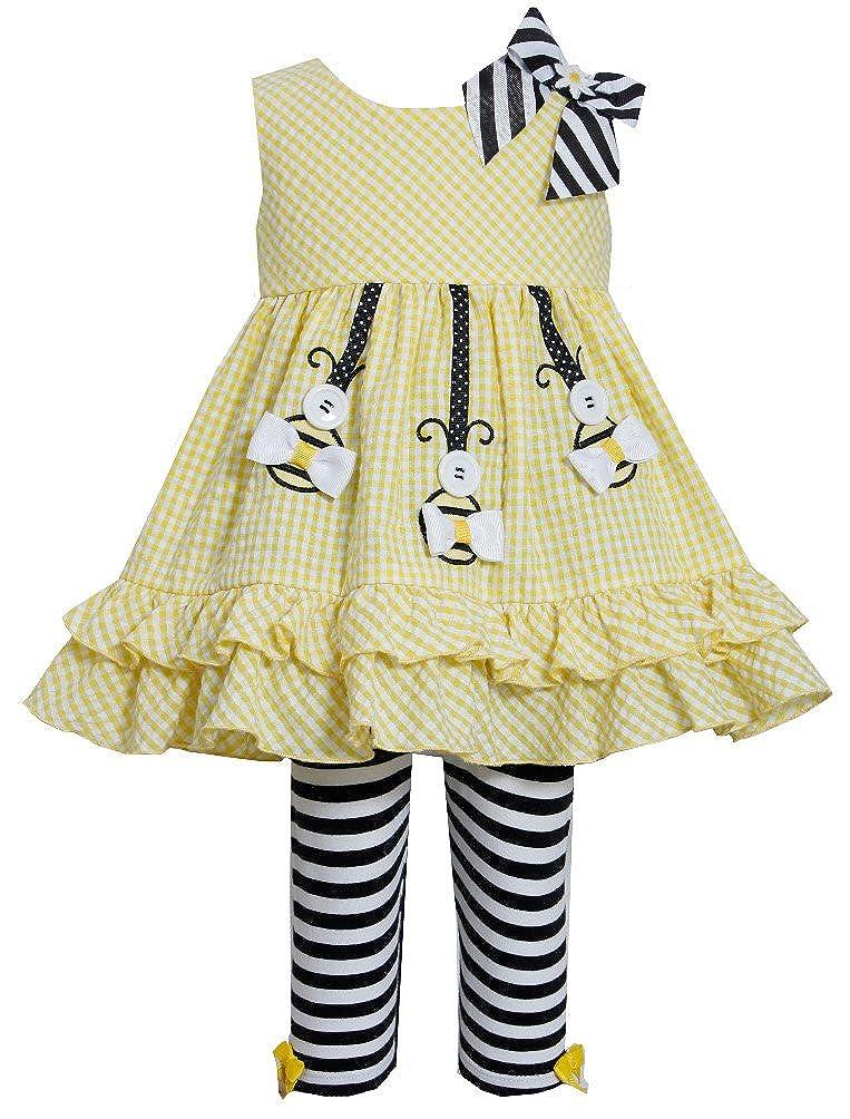 Bonnie Jean Yellow Button Bee Legging Set 6-9 months