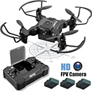 4DRC Mini Drone with Camera for Kids and Adults Beginners RC Foldable Quadcopter,App Control,3D Flips and Headless Mode,One