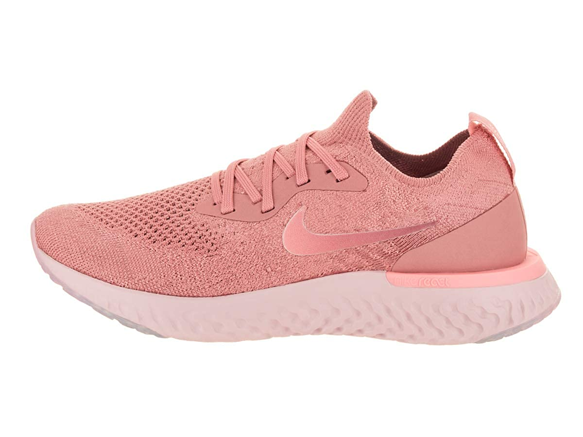 Amazon.com | Nike Womens Epic React Flyknit Ankle-High Fabric Running Shoe | Road Running