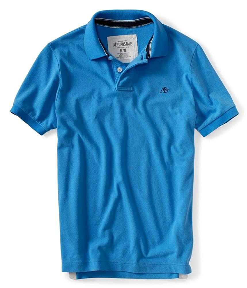 347e393c Aeropostale Mens Solid A87 Uniform Logo Rugby Polo Shirt at Amazon Men's  Clothing store: