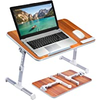 Adjustable Portable Portable Standing Desk Sofa Breakfast Tray Notebook Stand Reading Holder for Couch Floor Large Size American Cherry
