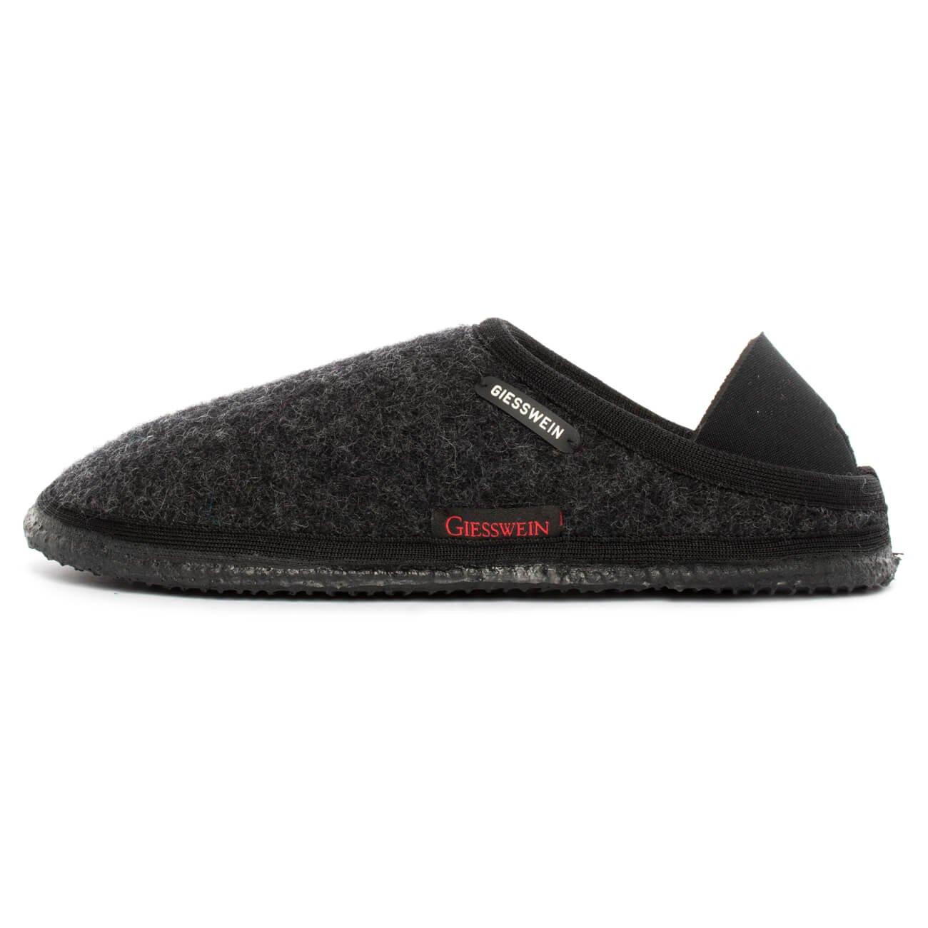 Giesswein 68 10 49131, Pantofole Unisex Adulto Grigio (Anthrazit 019) | Nuovo Prodotto  | Uomo/Donne Scarpa