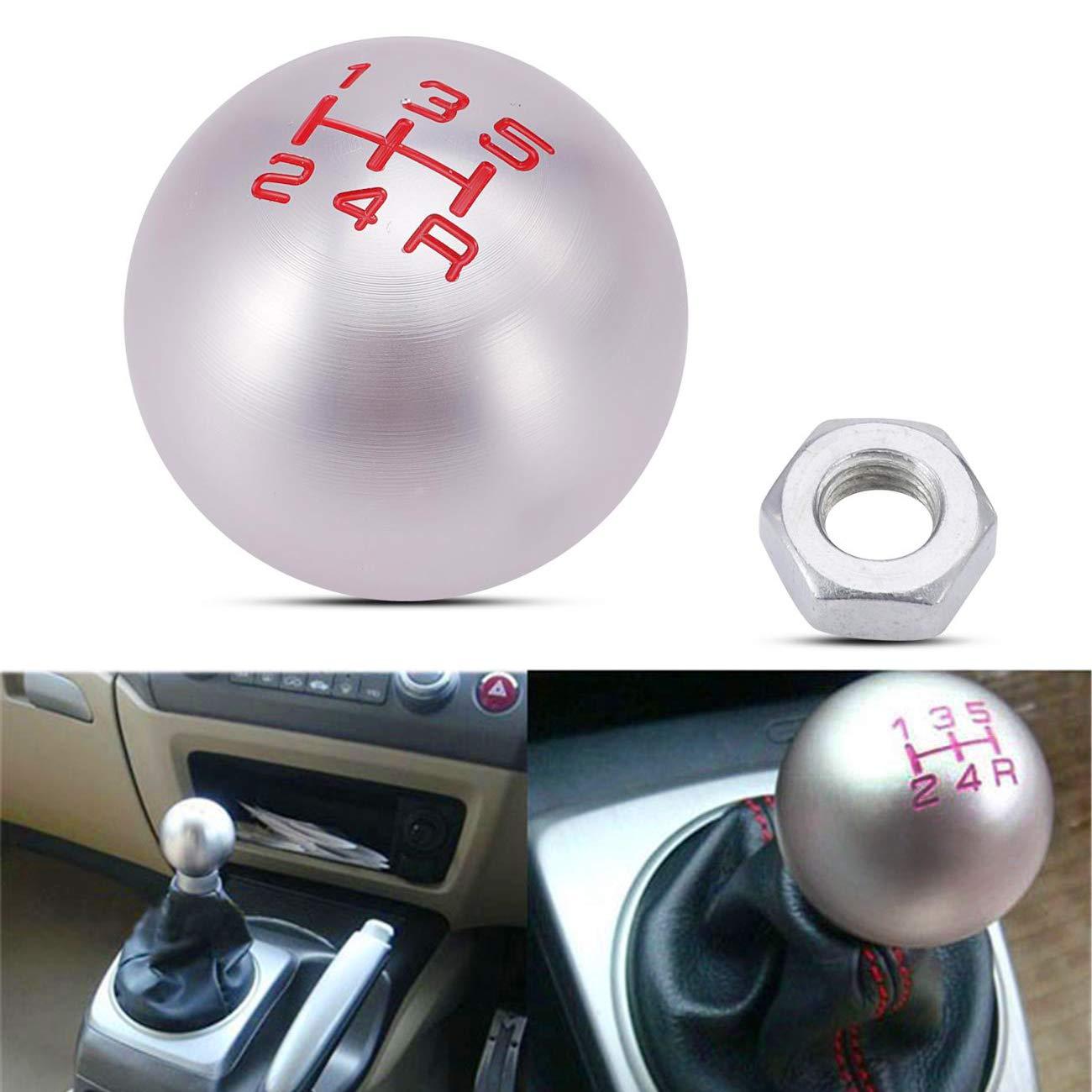 Partol 5 Speed Gear Shift Knob Manual Transmission JDM Round Ball Fit Most Honda Acura Car