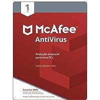 McAfee Antivírus – Programa Premiado De Proteção Contra Ameaças Digitais, Programas Não Desejados, 1 PC - Cartão - 2021…