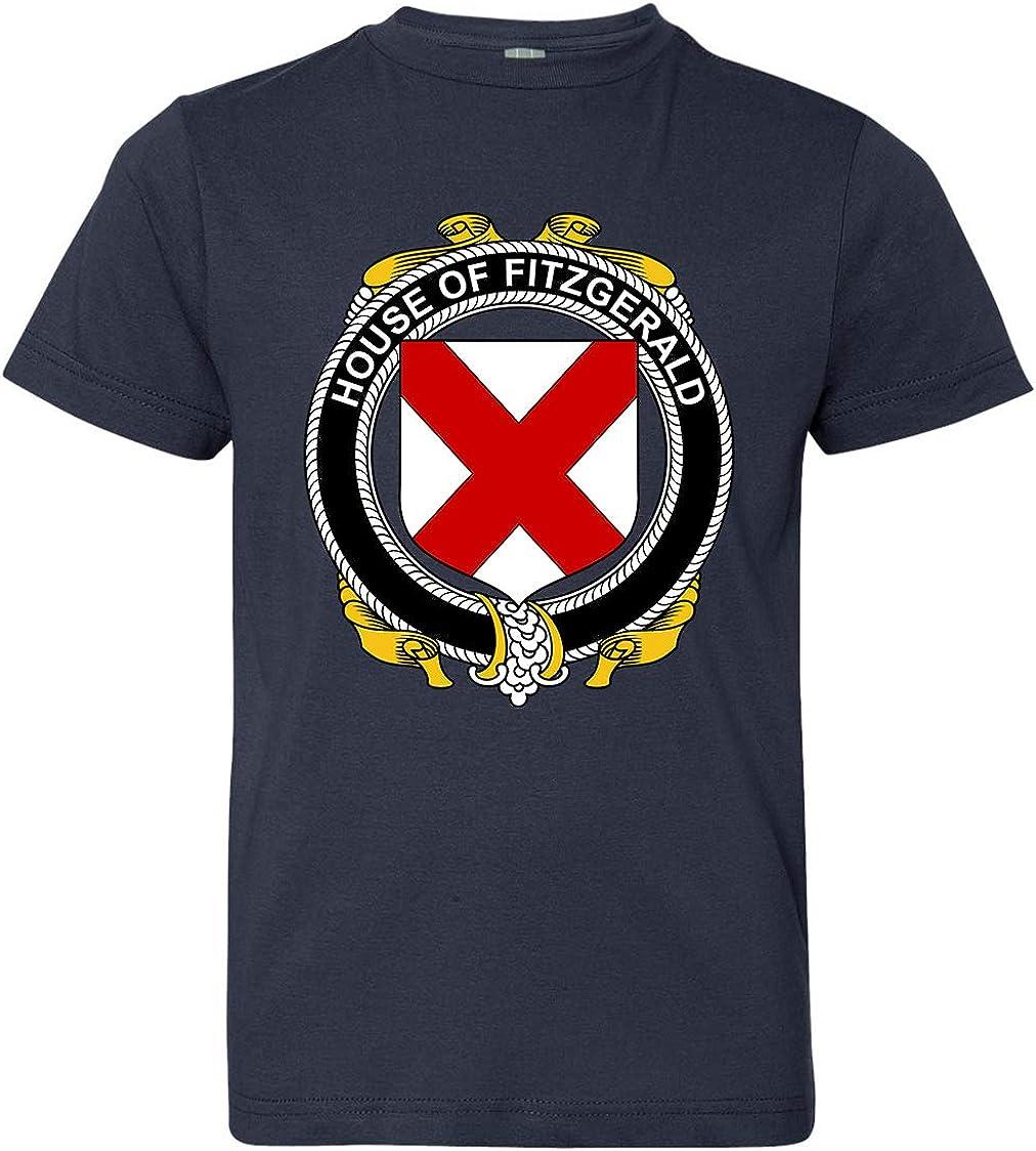 Navy X-Large Tenacitee Boys Youth Irish House Heraldry Fitzgerald T-Shirt