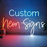 AOOS CUSTOM Dimmable LED Neon Signs for Wall Decor (Customization Options: Color, Size, Dimming, Wall Mounted, Desktop Type,