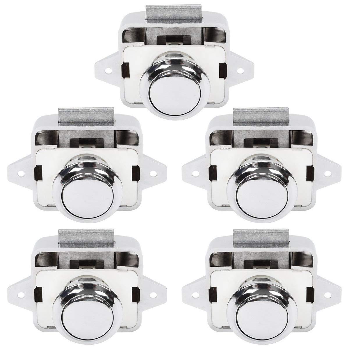 Silber OCGIG 5tlg Cabinet Lock Schaltfl/ächentyp Schl/össer f/ür Wohnwagen Wohnmobil Schrankknauf