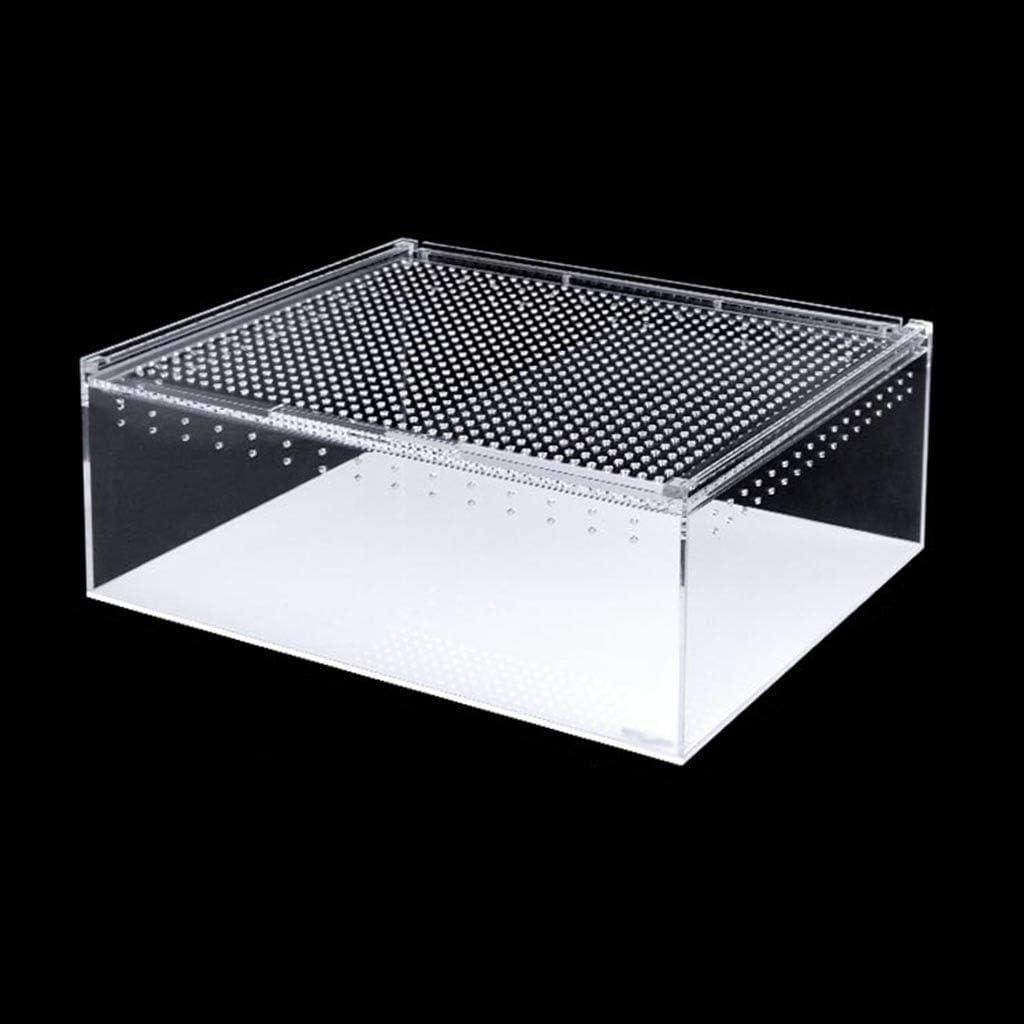 シール防水ビバリウム科学ボックス、トカゲヘビタンク - ウォッチ農業ボックスホームケージ生息タンクボックス猫犬ペットハウス (Size : 40*30*15CM)