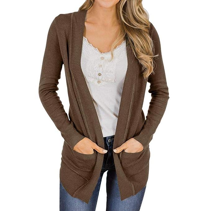 Linlink Liquidación Mujeres Prendas de Abrigos otoño Camisas de Manga Larga Blusa Suelta Cardigan Chaqueta de Abrigo de Desgaste: Amazon.es: Ropa y ...