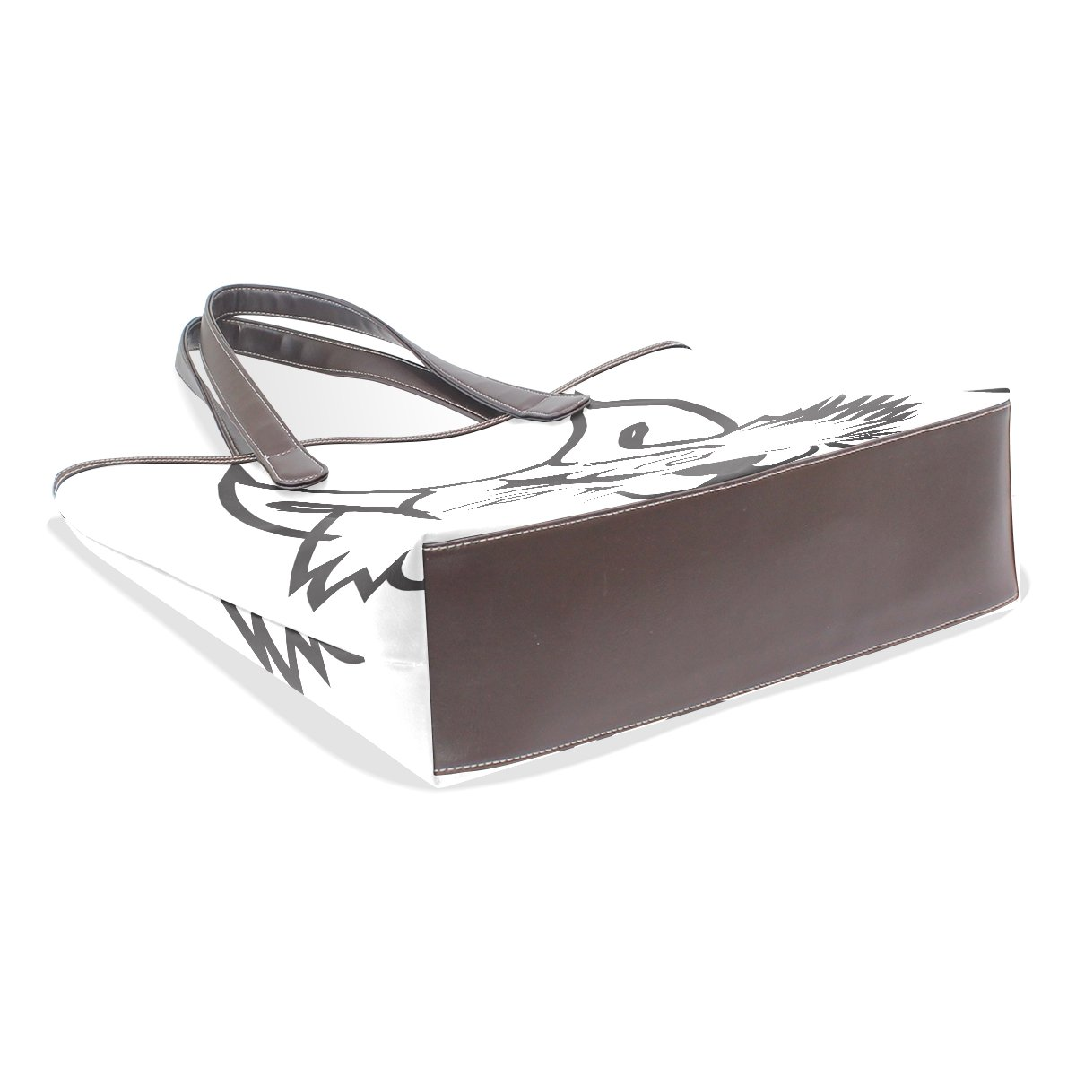Ye Store Wolf Line Lady PU Leather Handbag Tote Bag Shoulder Bag Shopping Bag
