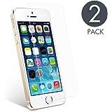 Vetro Temperato iPhone 5C [2 Pezzi] aiMaKE Pellicola iPhone 5s/5c/5/SE Ultra resistente Screen Protector Film Ultra Resistente(0,25mm HD Alta trasparente)