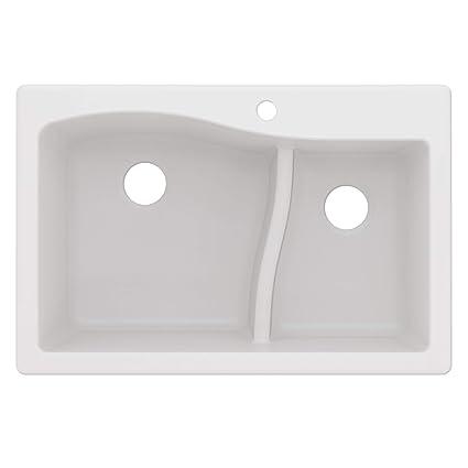 Kraus Kgd 442white Quarza Granite Kitchen Sink 33 Inch White