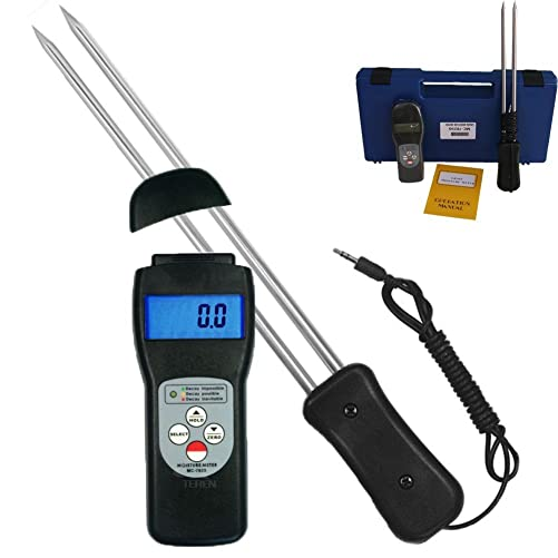 DTI-MC-7825G Portable LCD Dispaly Grain Moisture Meter Maize Pepper Coffee Cocoa Bean Humidity Tester 7 30