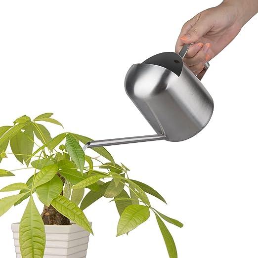 500 ml Premium acero inoxidable pulido regadera jardín oficina planta para planta maceta de flores: Amazon.es: Jardín