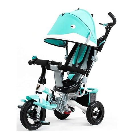 GSDZSY - Triciclo para Niños Carro De Bebe 4 En 1 con Barra De Empuje Y