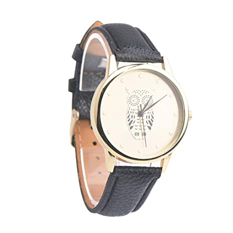 Sonnena Watches Orologio da polso donna orologio retro Owl Leather Band  analogico in lega da polso 71a9f195d3b