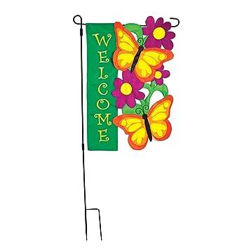 Amazoncom 3Piece Large Garden Flag Pole 7575in x 3725in