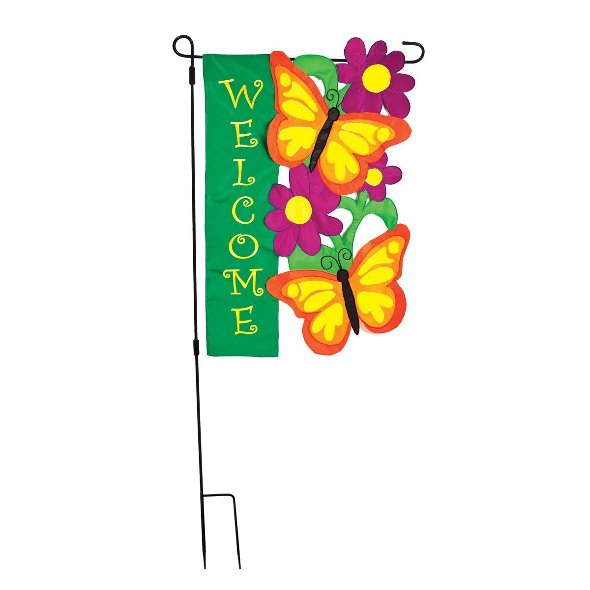 3-Piece Large Garden Flag Pole 75.75in x 37.25in