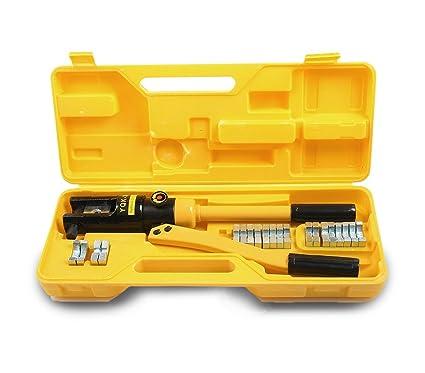 Alicate hidráulico para terminales eléctricos con 12 ...