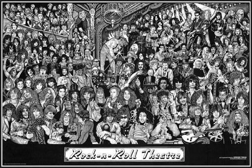 Hot Stuff Enterprise Z158-24x36-NA Rock n Roll Theater Poster, 24 x 36 from Hot Stuff Enterprise