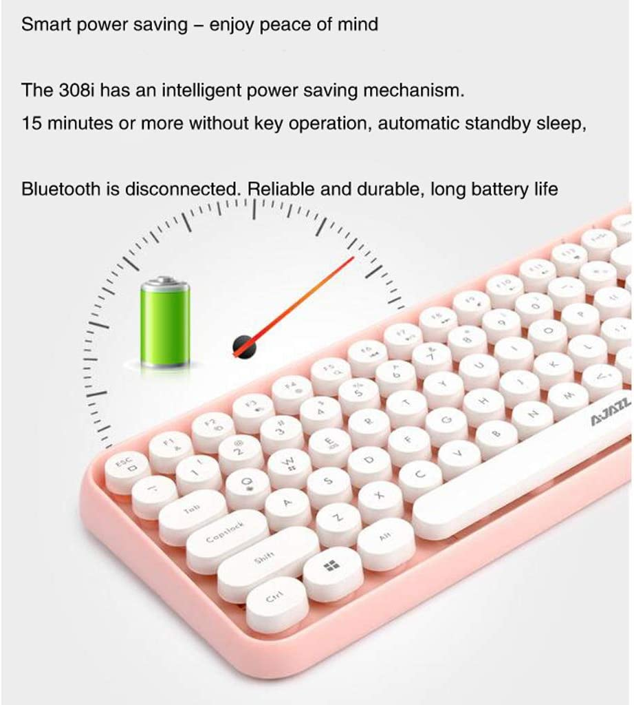 HHRONG Bluetooth Wireless Keyboard USB Receiver and Whispering Quiet Keyboard Design; Ergonomic Wireless Keyboard