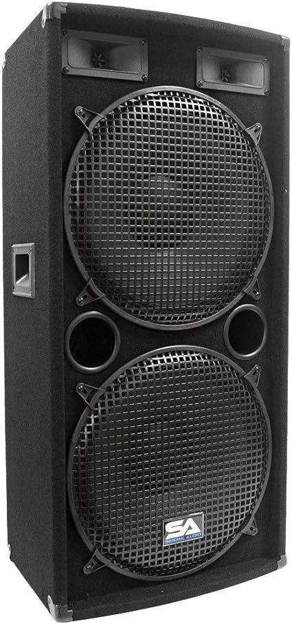 Seismic Audio - Dual 10 Inch PA DJ SPEAKER 10 Watts PRO AUDIO - Band, Bar,  Wedding, Church