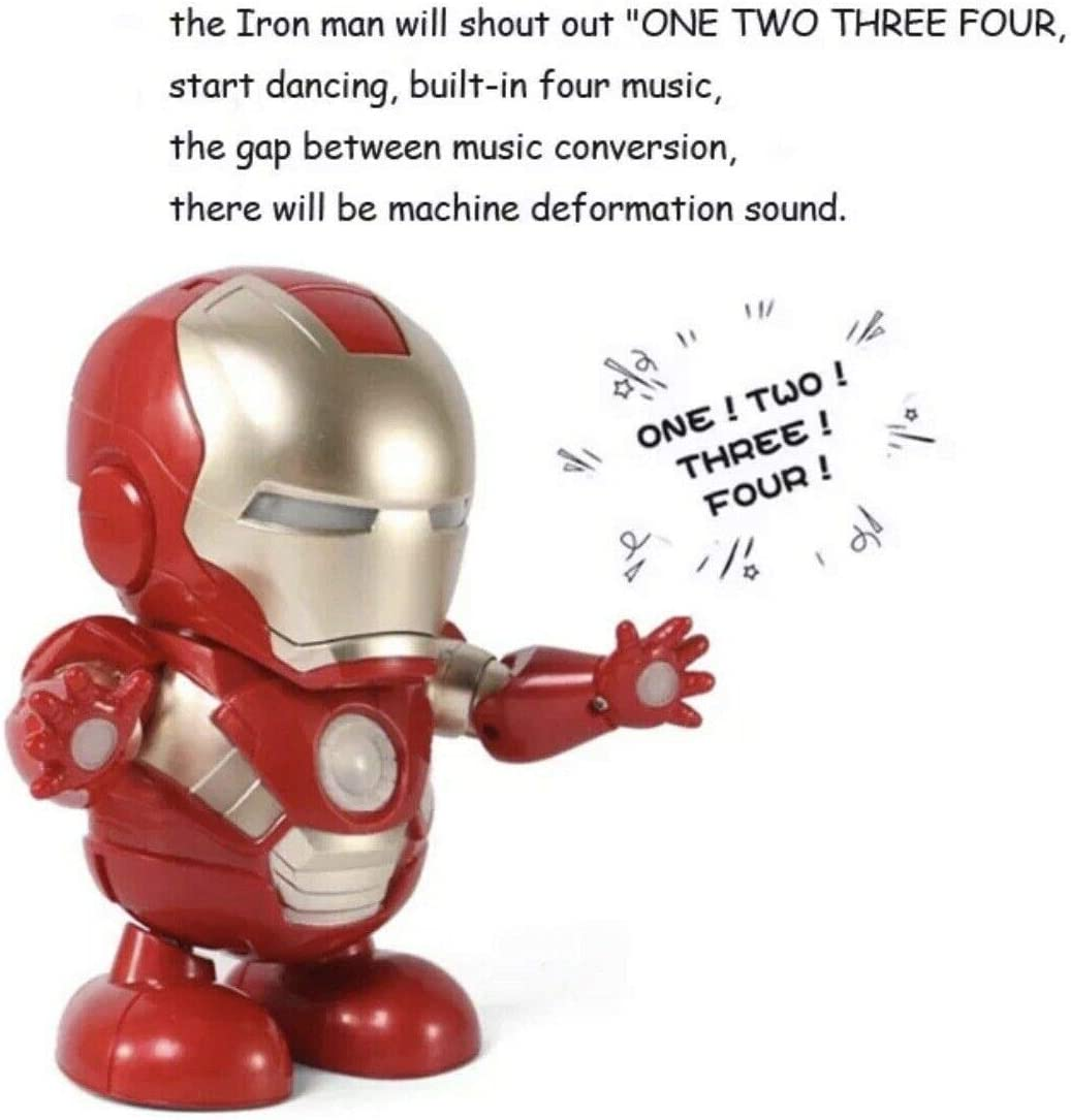 Christmas Kids With Gifts Maxwell There is Music And Lights Dancing Iron Man Childs Birthday Present