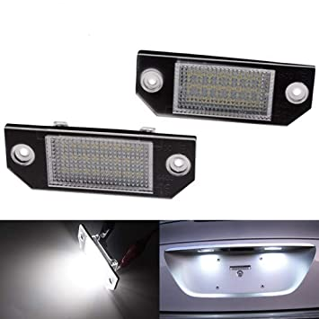Kalttoy 2 piezas de 24 luces LED para matrícula de Ford Focus C-MAX 03