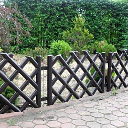 3, 5 m de largo plástico jardín valla, 4 colores, marrón: Amazon.es: Jardín