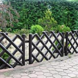 Brown 3.5 m long plastic garden picket fence, 4 colours