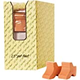 New England Pottery 3-Pack Pot Feet Display, 1-1/2-Inch, Terra Cotta (Discontinued by Manufacturer)