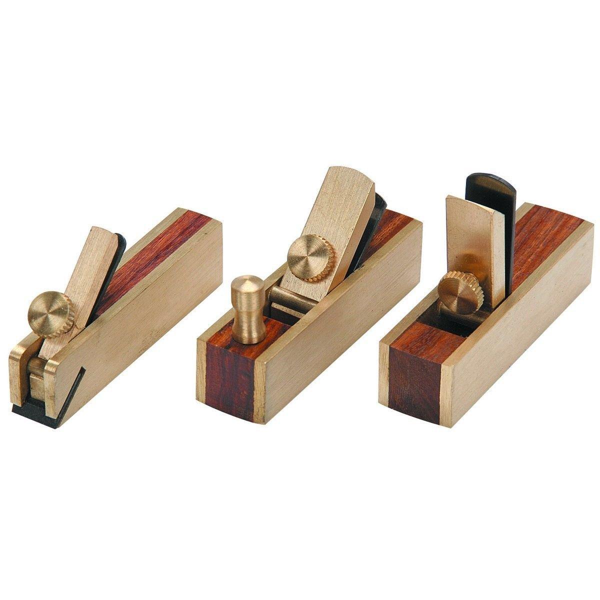Micro Mini Brass Hand Plane Set Wood Finish Planer Hobby Craft