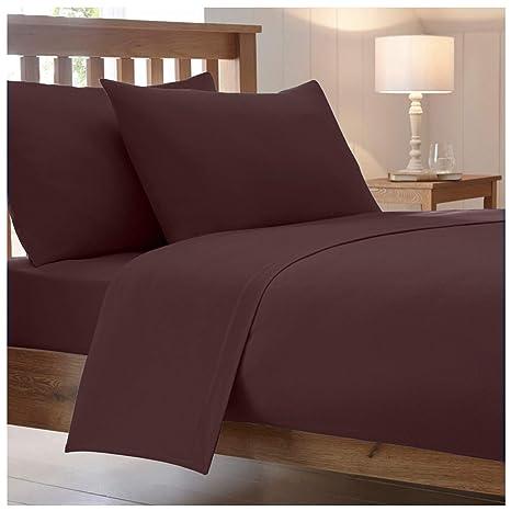 Non Iron Polycotton Percal Duvet Cover Set With Pillow Cases All Sizes