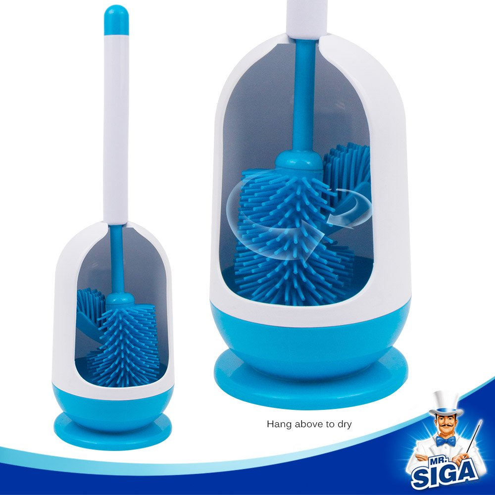 SIGA Soft Bristle Toilet Brush with Holder MR.SIGA SJ21573S MR